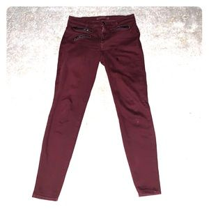 J Brand Zoey Jean in Lava with Zippers